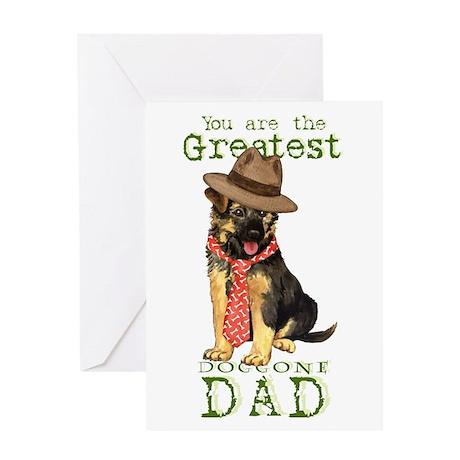 GSD I Love Dad Greeting Card