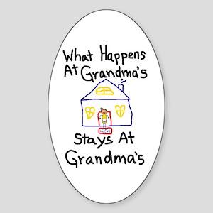 Grandma's House Oval Sticker