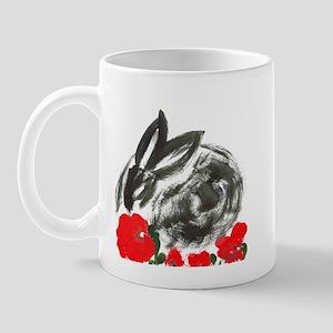 red flower blanket Mug