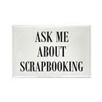 Ask Me About Scrapbooking Rectangle Magnet (10 pac