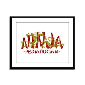 Dragon Ninja Pediatrician Framed Panel Print