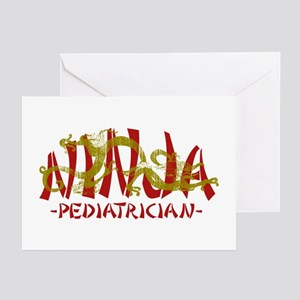 Dragon Ninja Pediatrician Greeting Cards (Pk of 10