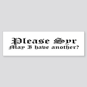 Please Syr Bumper Sticker