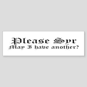 Please Syr Bumper Sticker