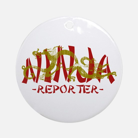 Dragon Ninja Reporter Ornament (Round)