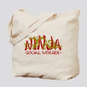 Dragon Ninja Social Worker Tote Bag