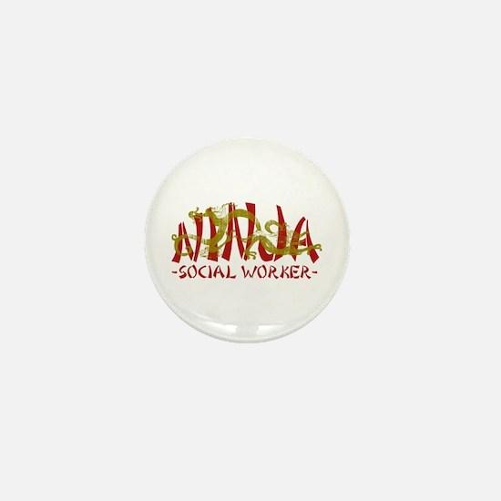 Dragon Ninja Social Worker Mini Button