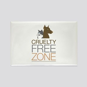 No Animal Cruelty Rectangle Magnet