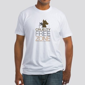 No Animal Cruelty Fitted T-Shirt