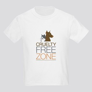 No Animal Cruelty Kids Light T-Shirt