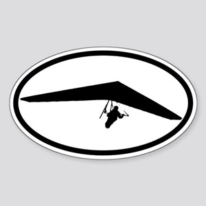 Hang Glider Oval Sticker