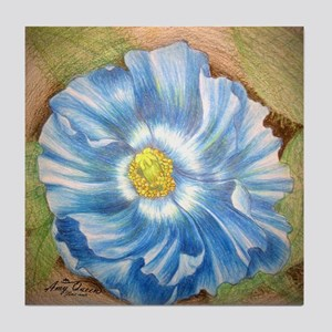 Blue Poppy Tile Coaster