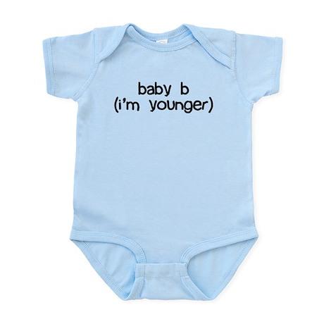 baby b (i'm younger) Infant Bodysuit