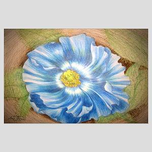 Blue Poppy Large Poster