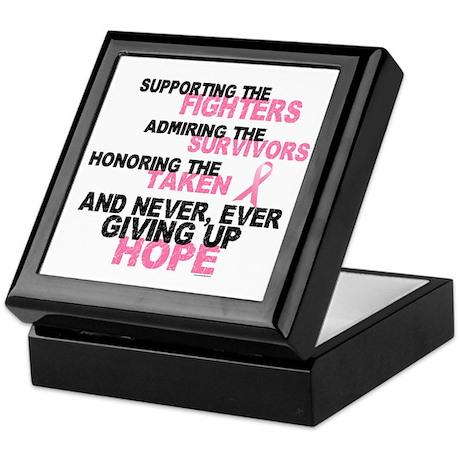 Fighters Survivors Taken 3 Pink Keepsake Box