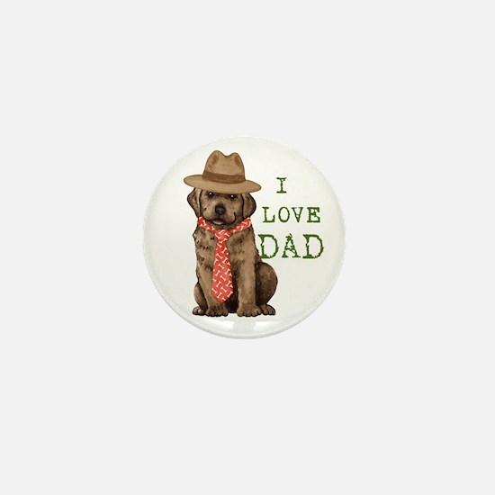 Chocolate Lab Dad Mini Button