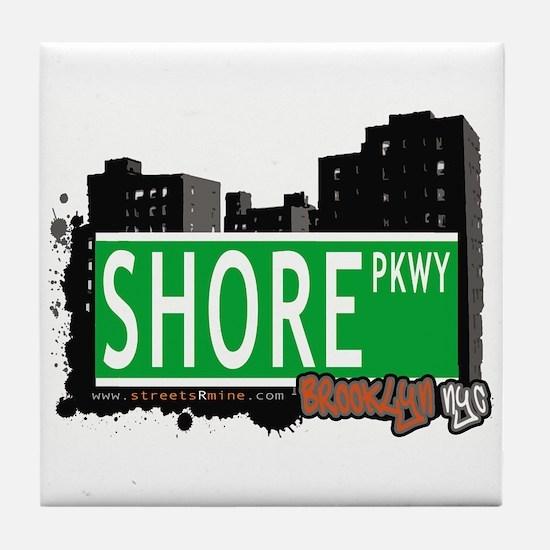 SHORE PKWY, BROOKLYN, NYC Tile Coaster
