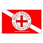 Reef Rescue Dive Flag Sticker