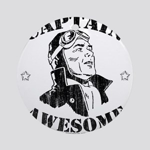 Captain Awesome Ornament (Round)