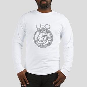 Gray Leo Lion Long Sleeve T-Shirt