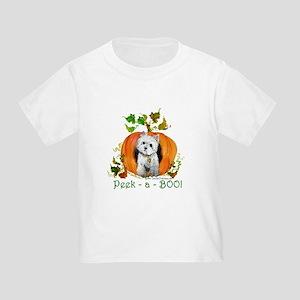 Autumn Pumpkin Westie Toddler T-Shirt