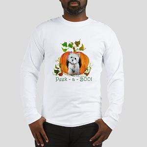 Autumn Pumpkin Westie Long Sleeve T-Shirt