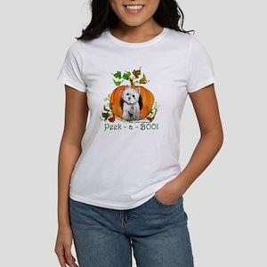 Autumn Pumpkin Westie Women's T-Shirt