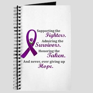 Supporting Admiring Honoring 2 (Purple) Journal