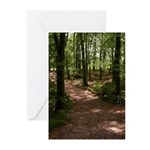 forestpath Greeting Cards
