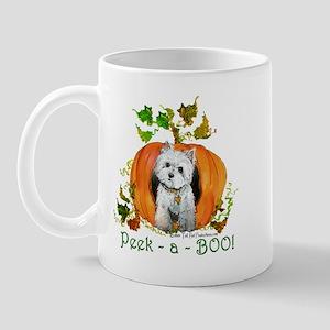 Autumn Pumpkin Westie Mug