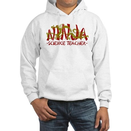 Dragon Ninja Science Teacher Hooded Sweatshirt