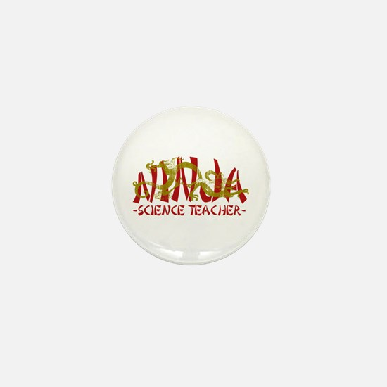 Dragon Ninja Science Teacher Mini Button