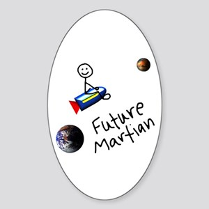 Future Martian Oval Sticker