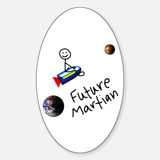 Future Martian Oval Decal