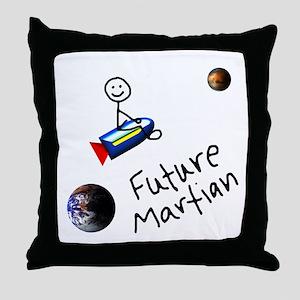 Future Martian Throw Pillow