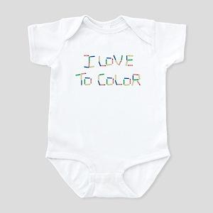 Love To Color Infant Bodysuit
