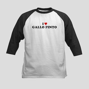 I Love Gallo Pinto Kids Baseball Jersey