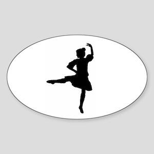 Highland Warmups Oval Sticker