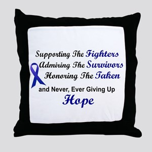 Supporting Admiring Honoring 1 (Blue) Throw Pillow