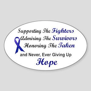 Supporting Admiring Honoring 1 (Blue) Sticker (Ova