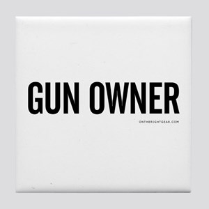 GUN OWNER Tile Coaster