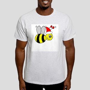 Christmas Bumble Bees Ash Grey T-Shirt