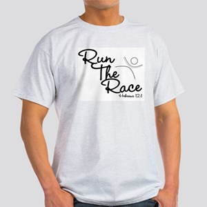 Run The Race Ash Grey T-Shirt