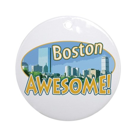 Awesome Boston Ornament (Round)