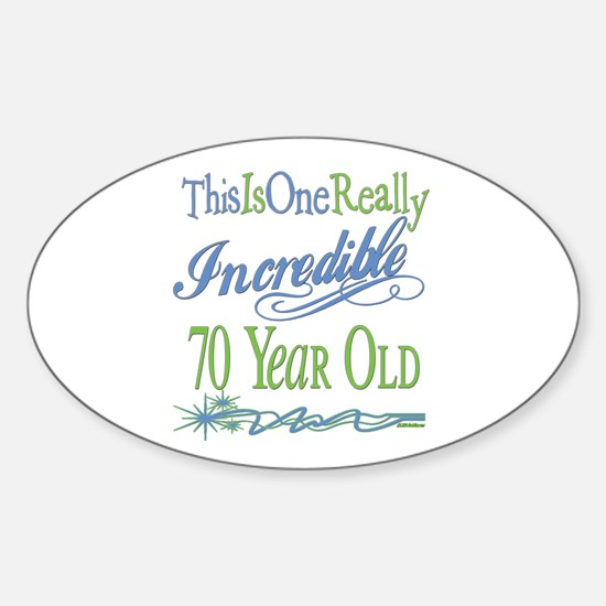 Incredible 70th Oval Decal