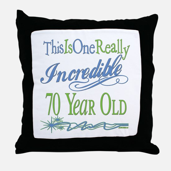 Incredible 70th Throw Pillow