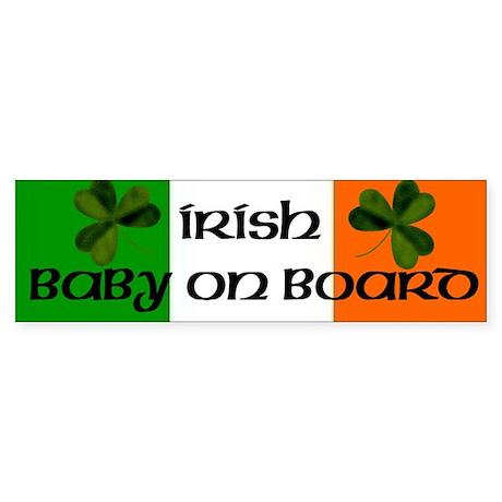 Irish Baby on Board Bumper Sticker