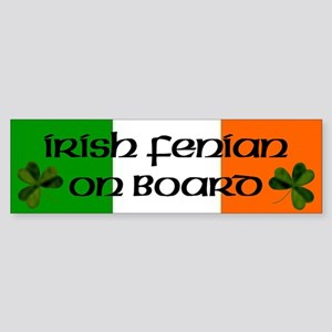 Irish Fenian on Board Bumper Sticker