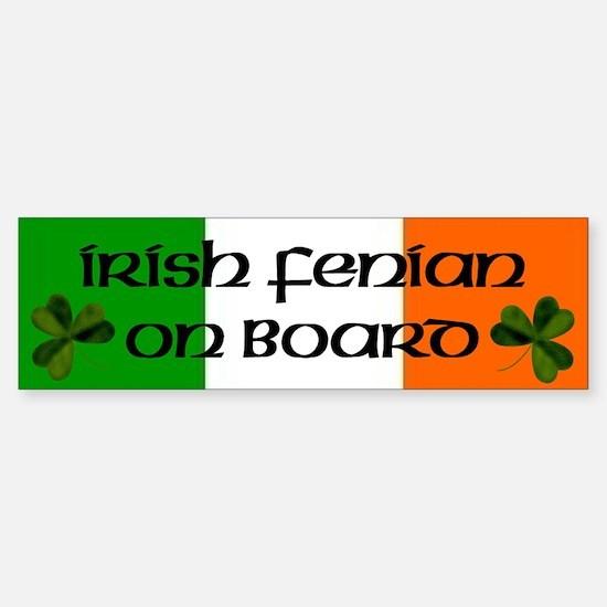 Irish Fenian on Board Bumper Bumper Bumper Sticker