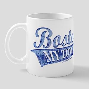 Boston My Town Blue Mug